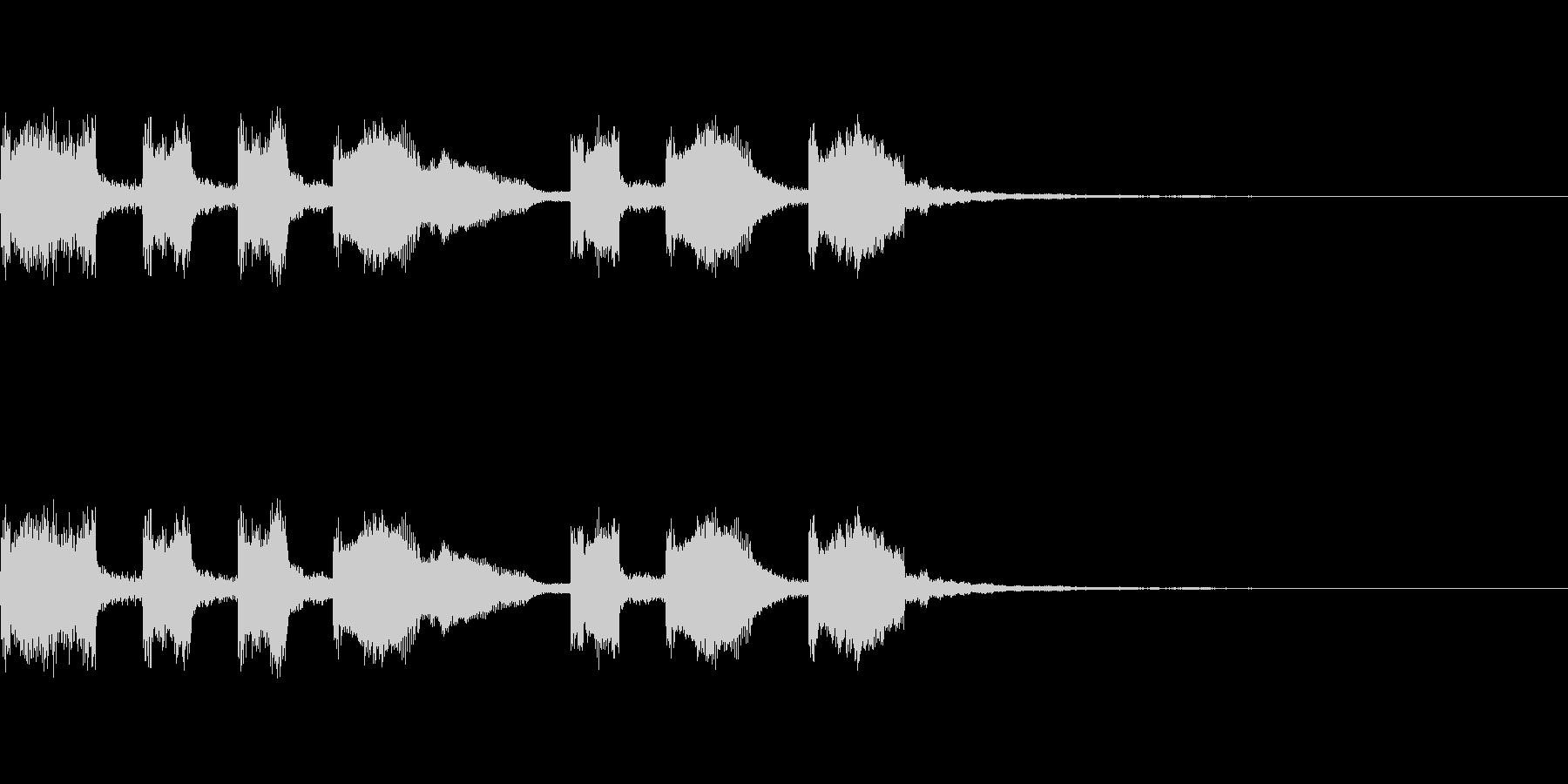 マクドナルドっぽいファンファーレの未再生の波形