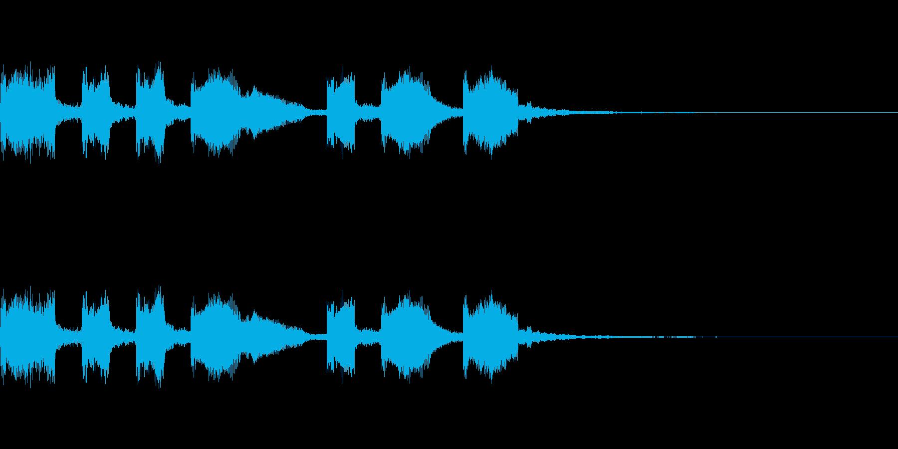 マクドナルドっぽいファンファーレの再生済みの波形