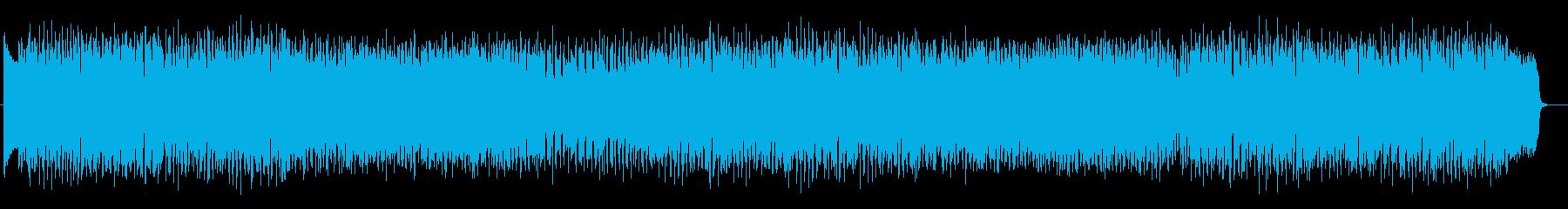 シンセサイザーを使った明るくポップな曲の再生済みの波形