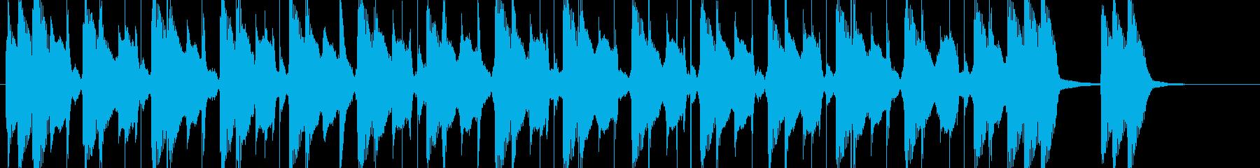 軽快な太鼓とグィロのグルーヴ プレーナの再生済みの波形