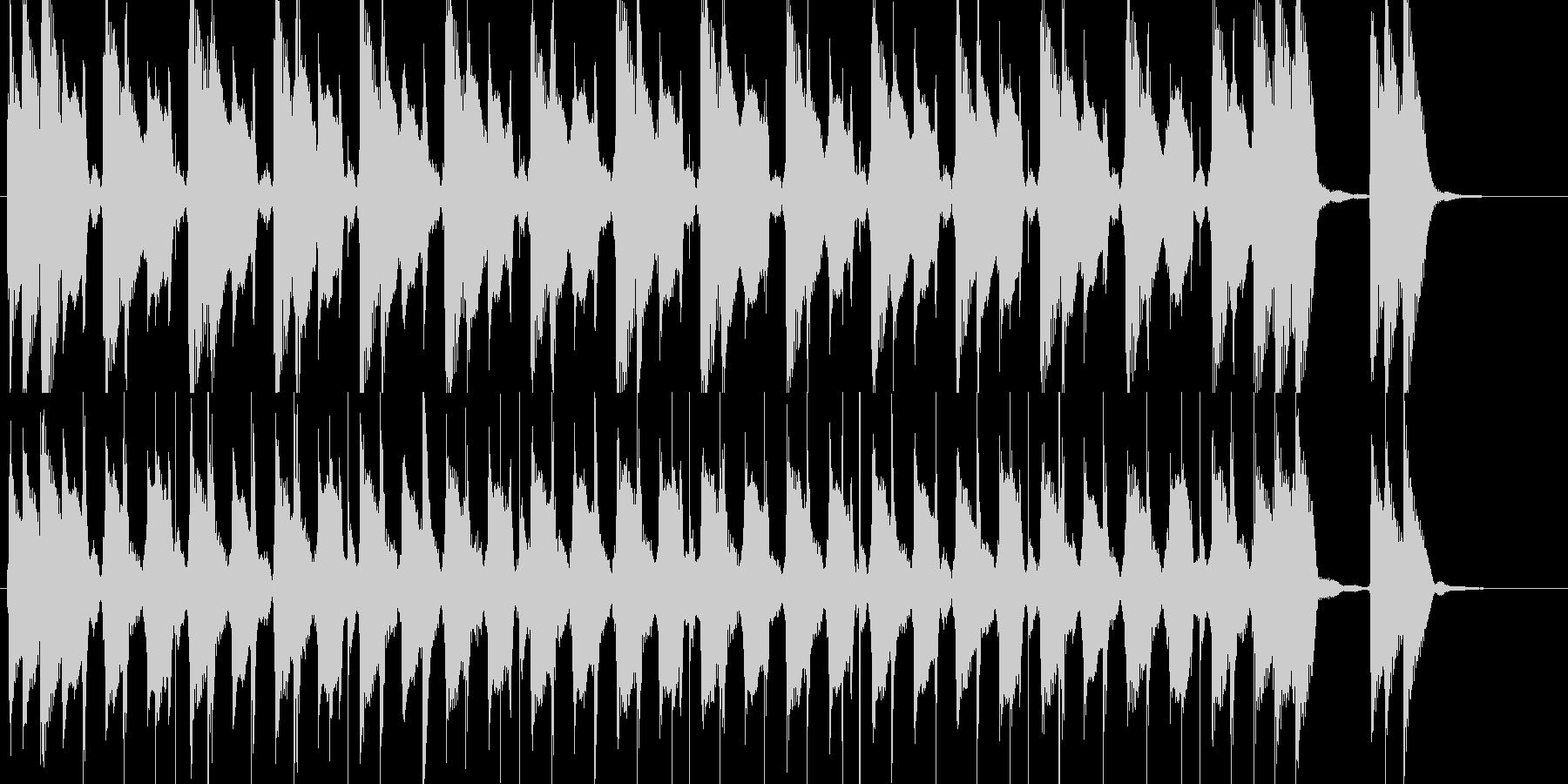軽快な太鼓とグィロのグルーヴ プレーナの未再生の波形