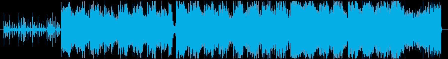 ダークで重厚感ある合唱付きオーケストラの再生済みの波形