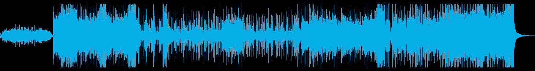 ヒーローもののOP曲にありそうな曲の再生済みの波形