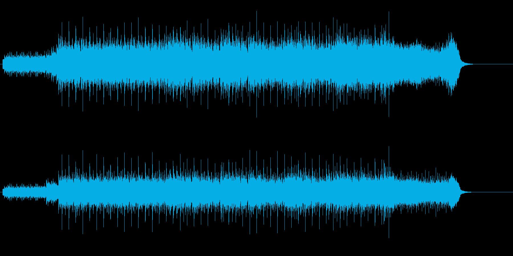 メロディーが映えるテクノ・ポップの再生済みの波形