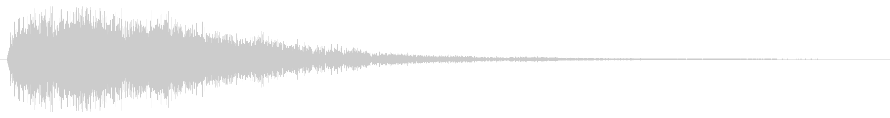 シュピーン(疾走感と勢いのあるバネ音)の未再生の波形
