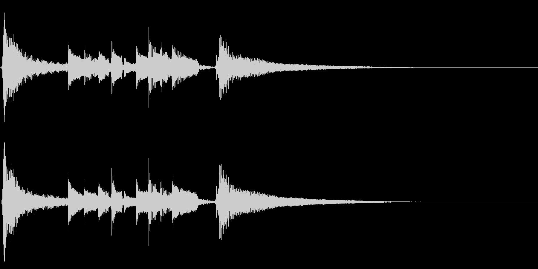 ★アコギ生音のジングル/おしゃれ、10秒の未再生の波形