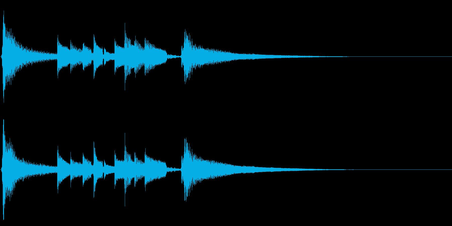 ★アコギ生音のジングル/おしゃれ、10秒の再生済みの波形