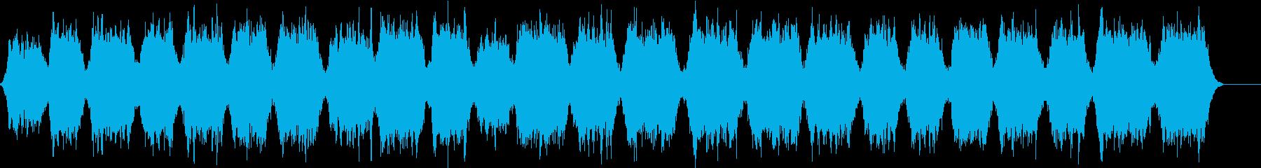 波の音が入ったリラックスできる曲の再生済みの波形