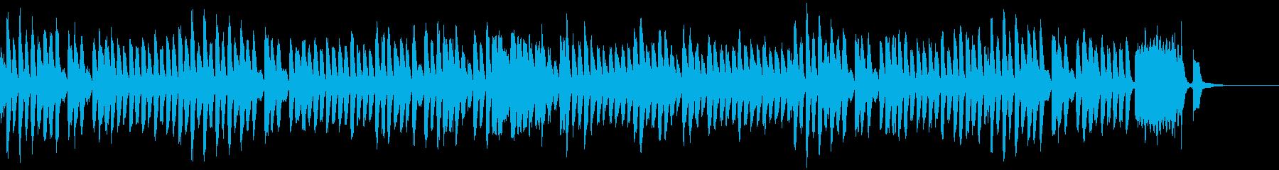 コミカルでかわいらしいピアノソロの再生済みの波形