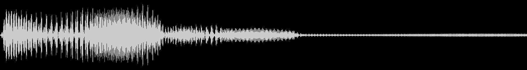 ビープ音の音19の未再生の波形