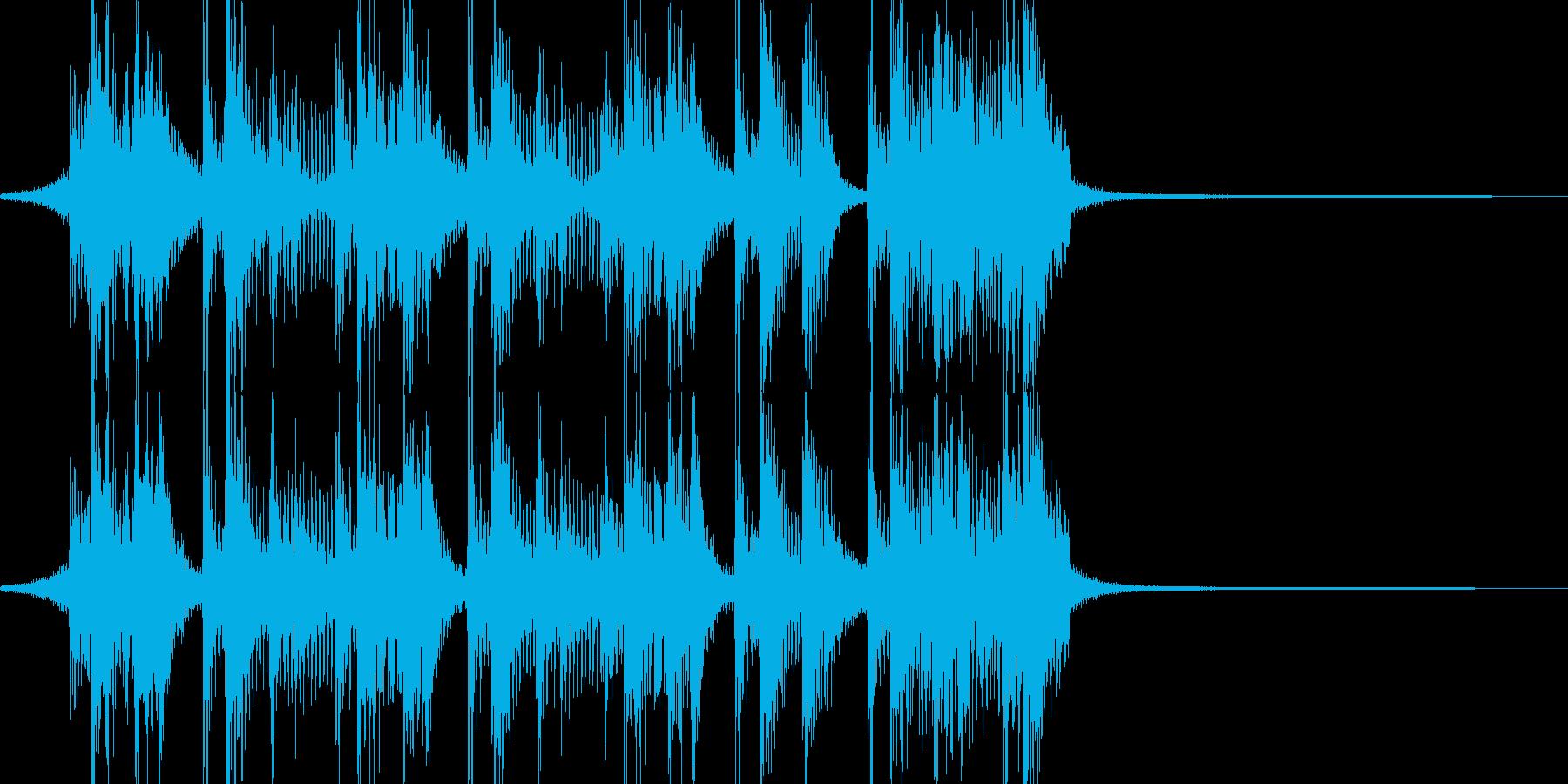 コミカルで、面白可笑しな三味線ジングルの再生済みの波形