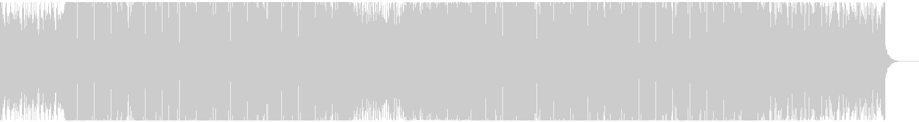 様々な音がカラフルな広がりのあるEDMの未再生の波形
