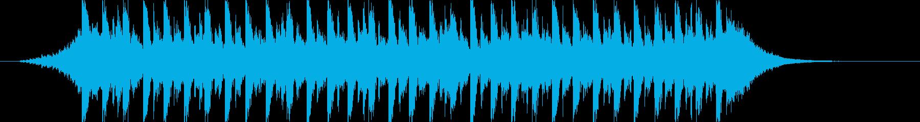 映像に、落ち着いたFuturePop1cの再生済みの波形