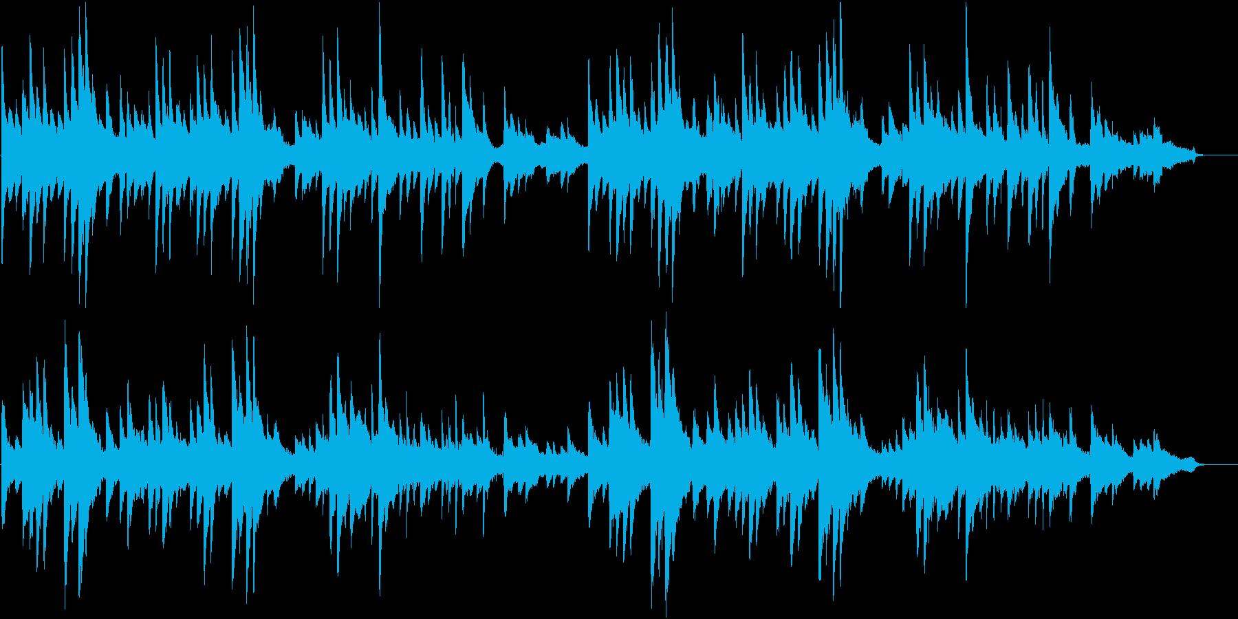 ポストクラシカル系ピアノ曲の再生済みの波形