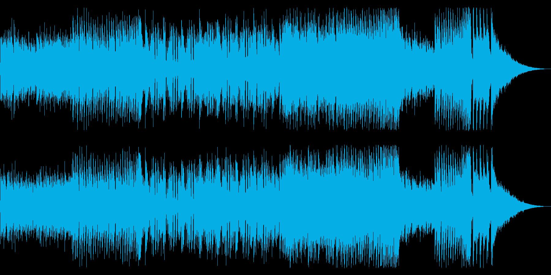 エネルギーある爽快なテクノミュージックの再生済みの波形