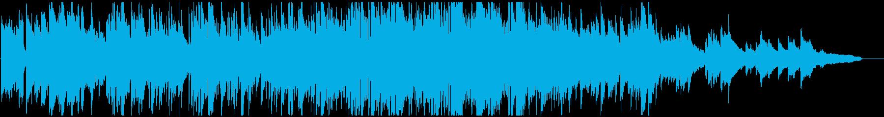 静かな波のようなボサノバ サックス生演奏の再生済みの波形