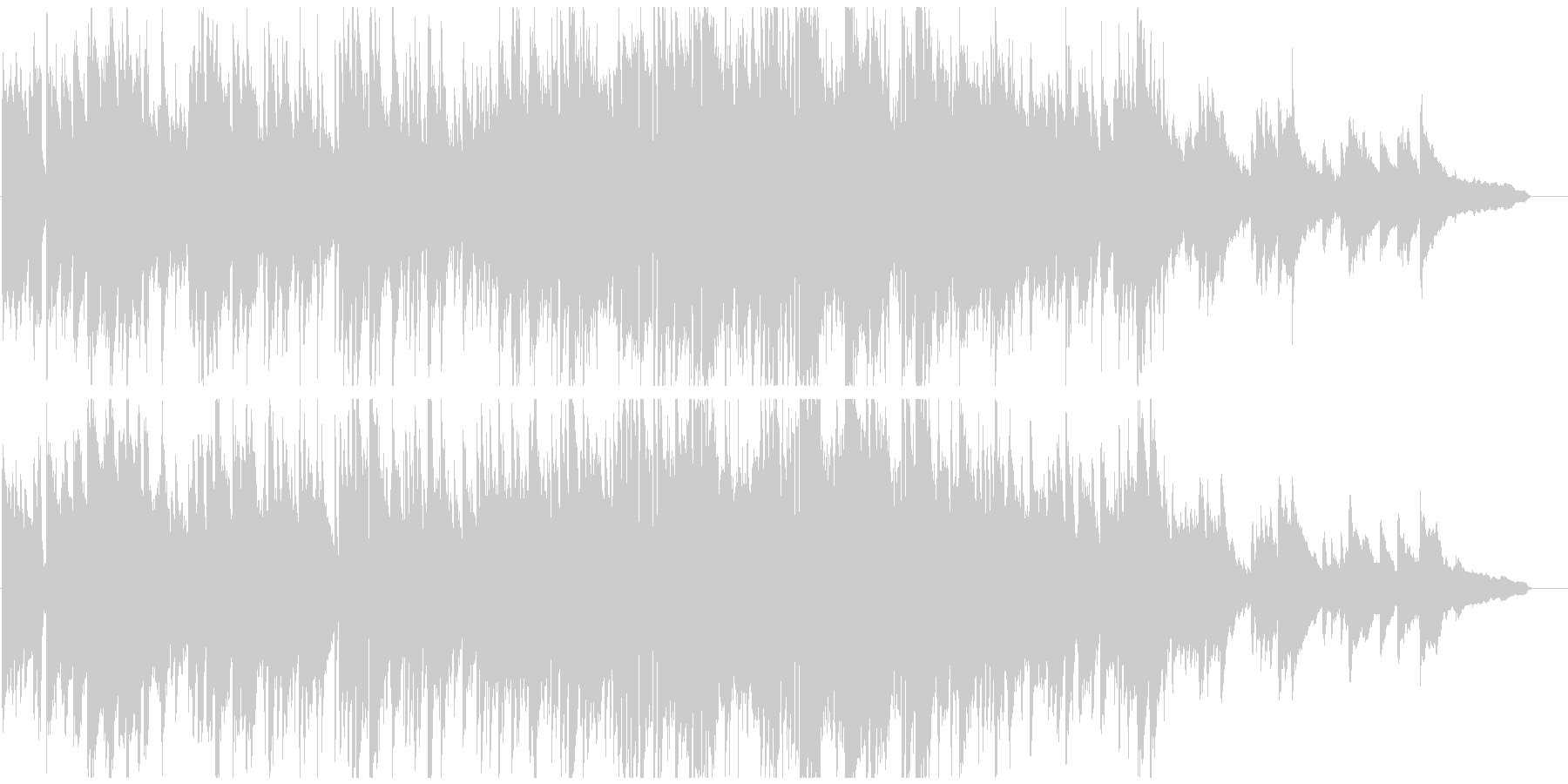 静かな波のようなボサノバ サックス生演奏の未再生の波形
