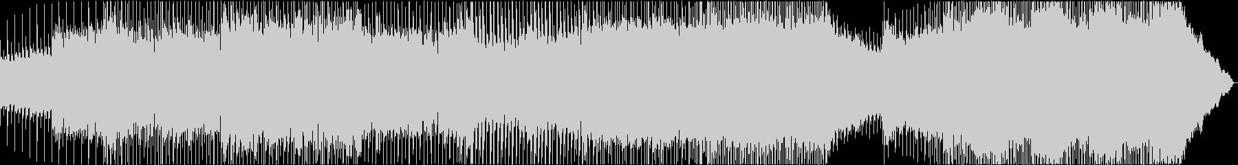 疾走シーンのパンキッシュバンドサウンドの未再生の波形