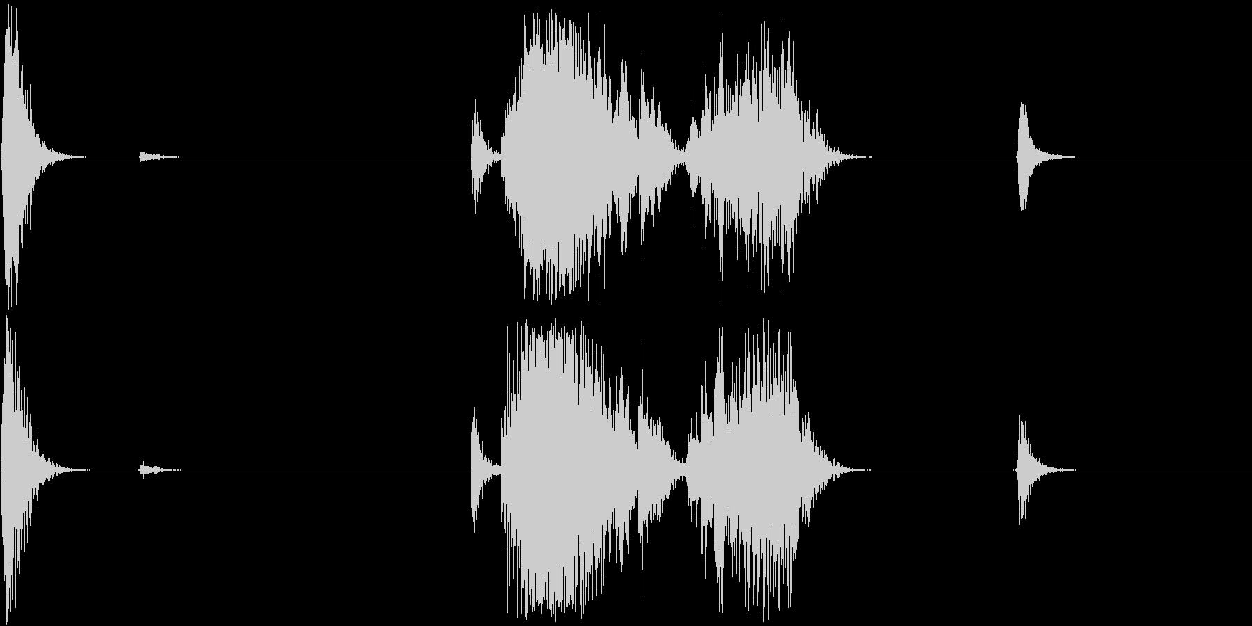 Unseal パッケージを開封する音の未再生の波形