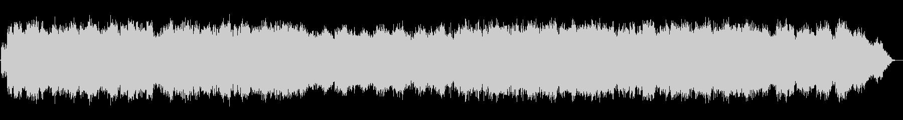 優しい低音の笛のヒーリング音楽の未再生の波形
