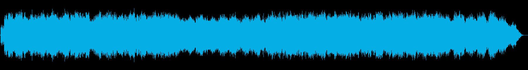 優しい低音の笛のヒーリング音楽の再生済みの波形