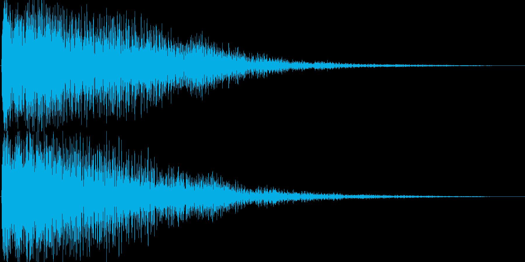 ゲーム(回復、アイテム入手、決定音)などの再生済みの波形
