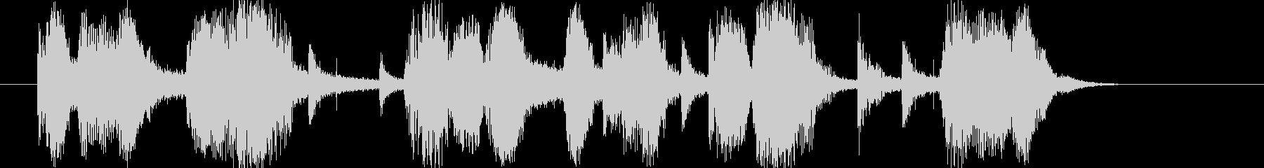 ヴィンテージ・オールド・ジャズなジングルの未再生の波形