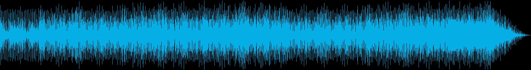 明るく愉快なサウンドの曲の再生済みの波形