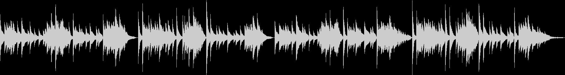 「蛍の光」ピアノアレンジ リバーブ浅めの未再生の波形