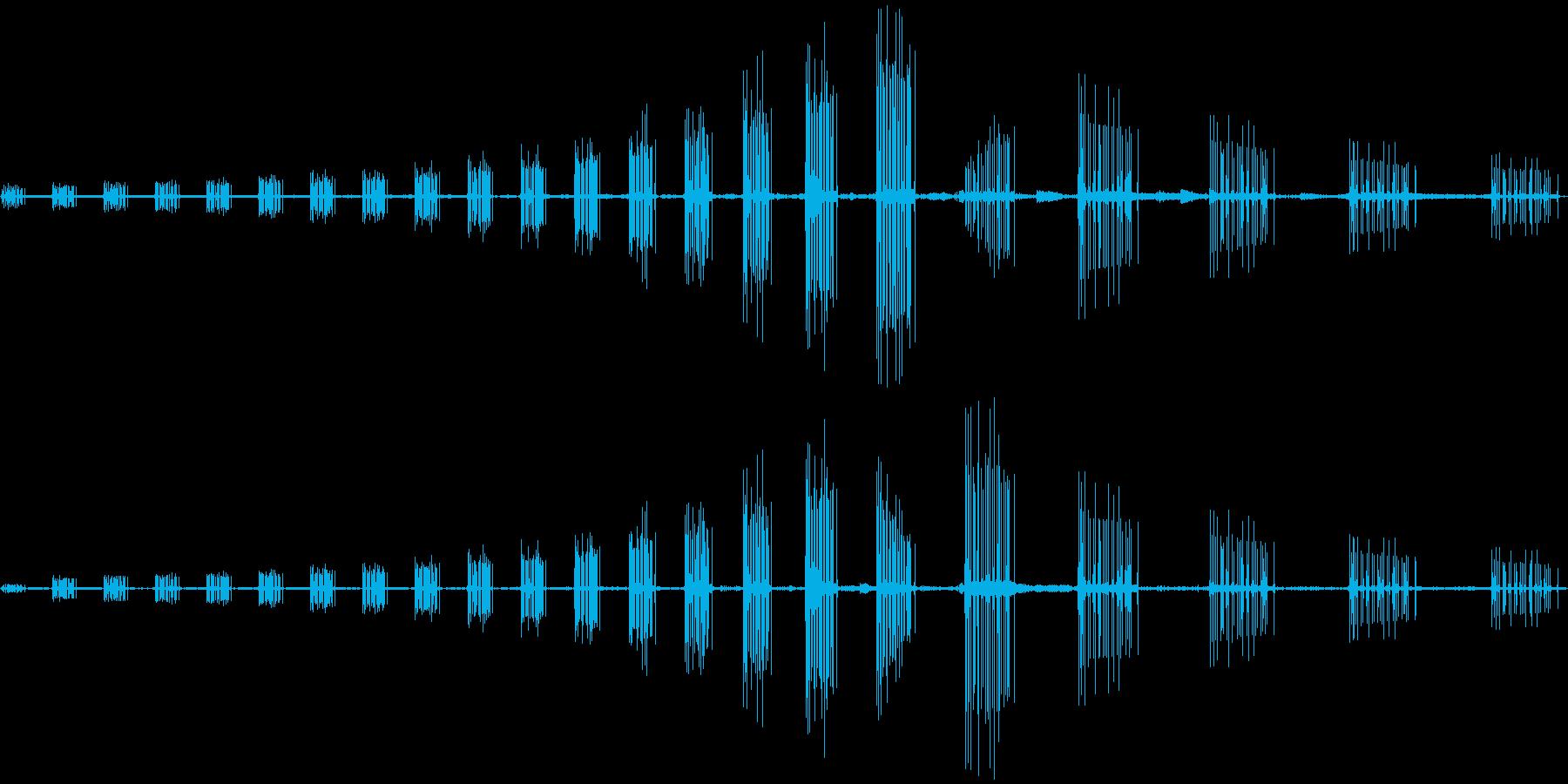 落下スワイプの再生済みの波形