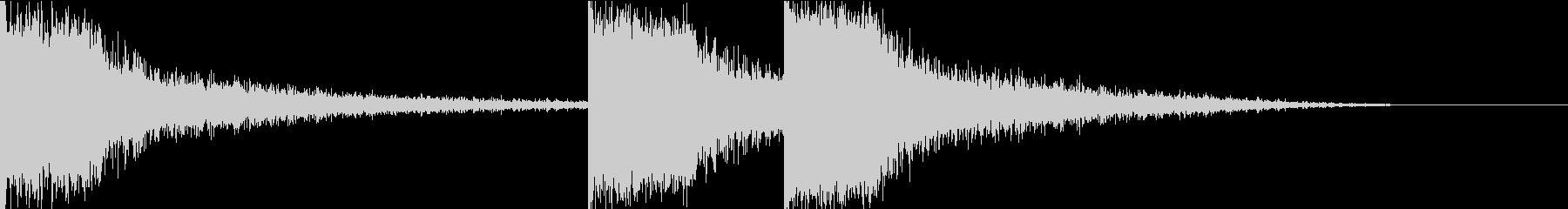 サスペンス 衝撃の事実 効果音の未再生の波形