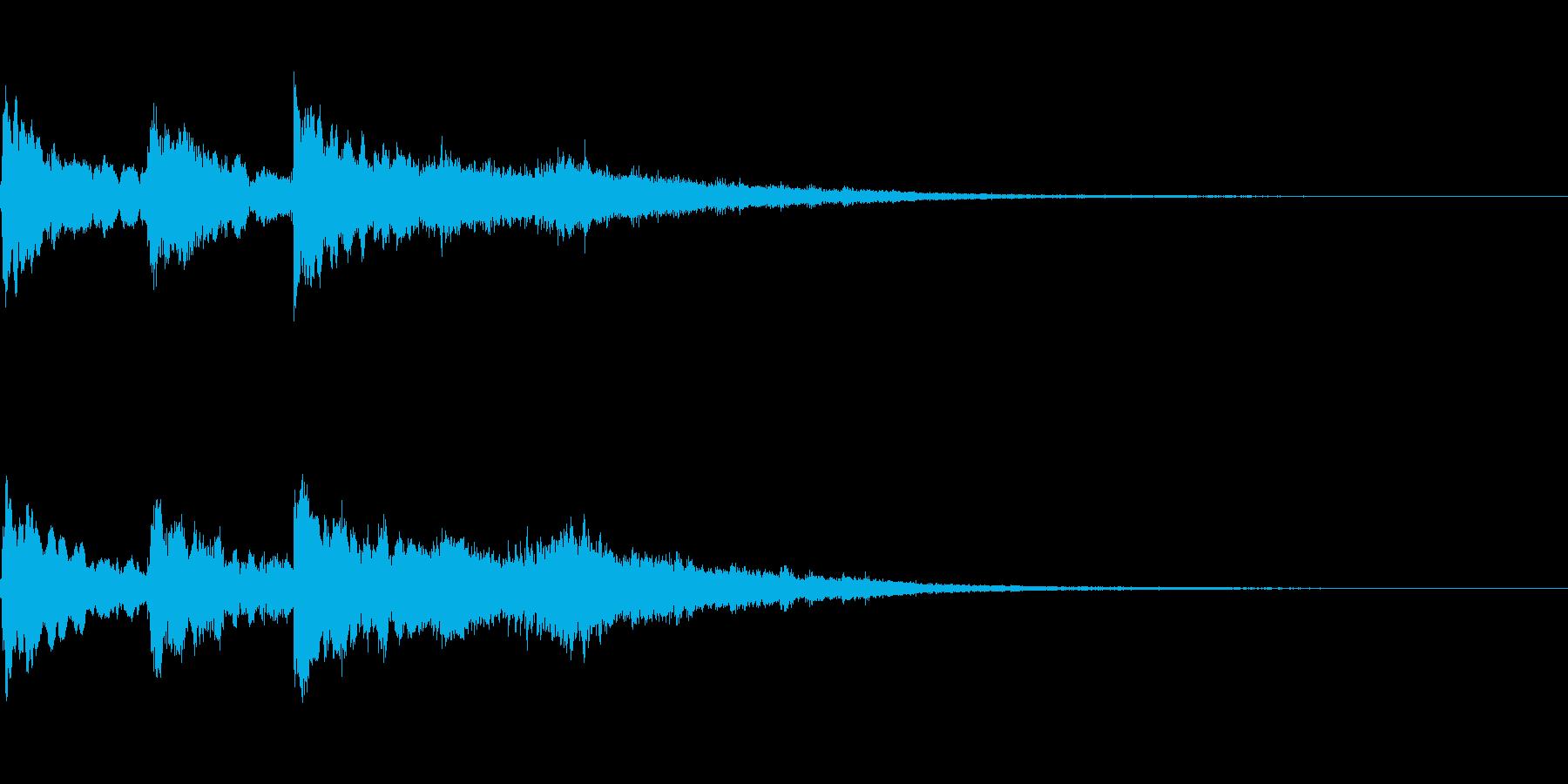三連続テロップ~0.7秒間隔~の再生済みの波形