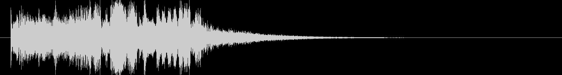 エレクトロニックでクールなジングルの未再生の波形
