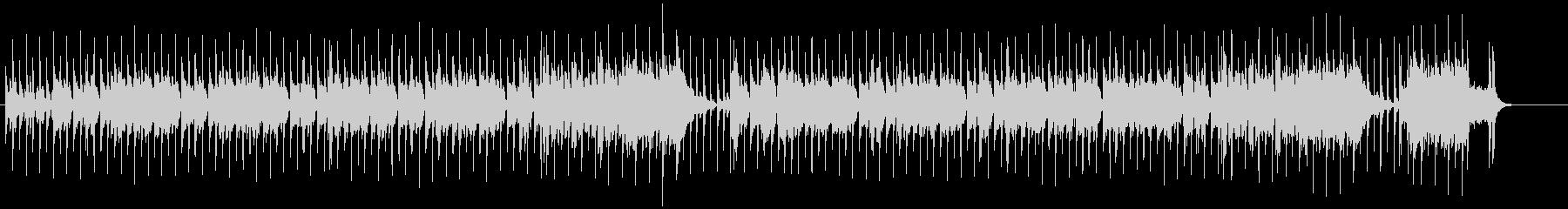 ホーン・セクションが際立つファンキーな曲の未再生の波形