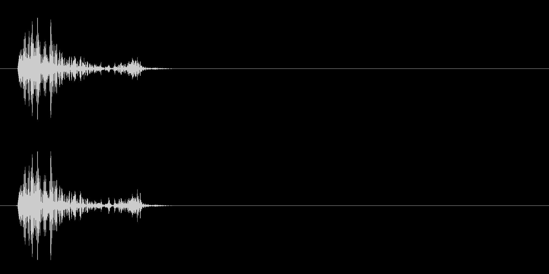 [生録音]ゴクリ、飲み込む音03(1回)の未再生の波形