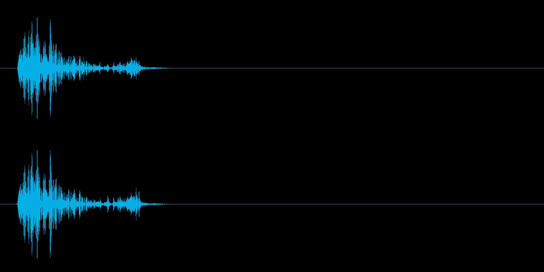 [生録音]ゴクリ、飲み込む音03(1回)の再生済みの波形