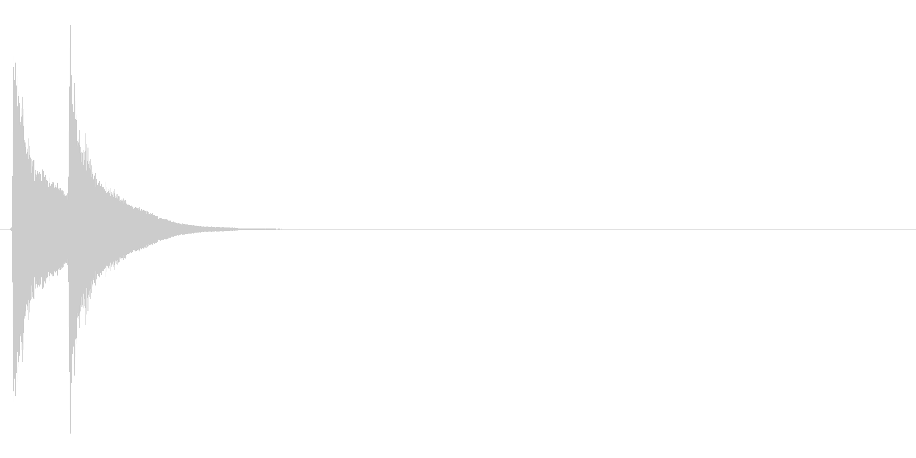テテン(気付く、コミカル、見つける)の未再生の波形