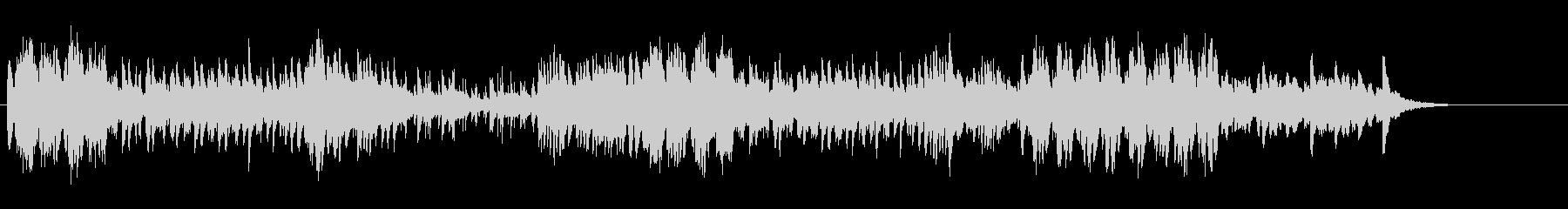 マリンバ・鉄琴・木琴などによる高速五重奏の未再生の波形