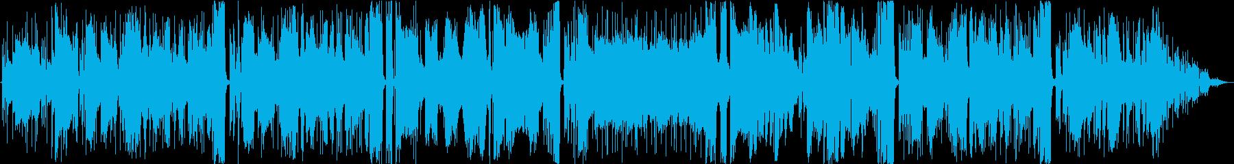 軽薄なムードで演奏するブルージージ...の再生済みの波形
