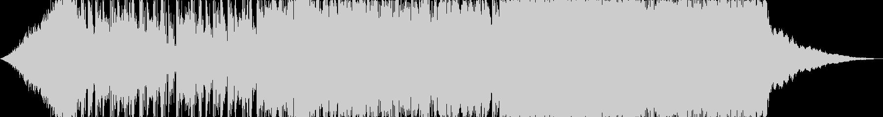 15秒のドラムンベース風ジングルの未再生の波形