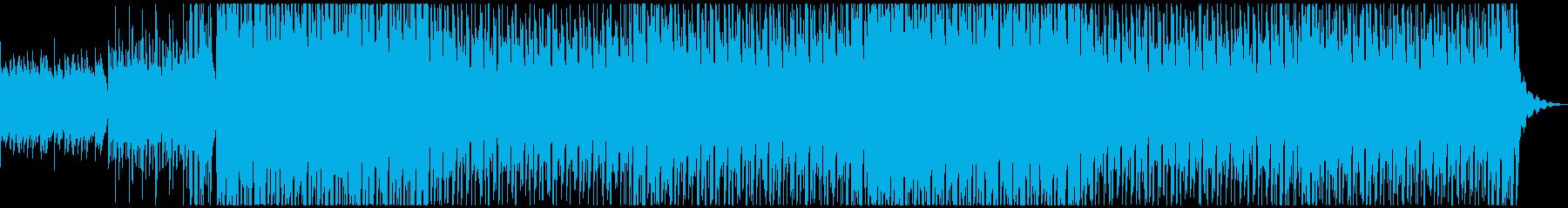 ケルト的な笛で陽気なトロピカルハウスの再生済みの波形