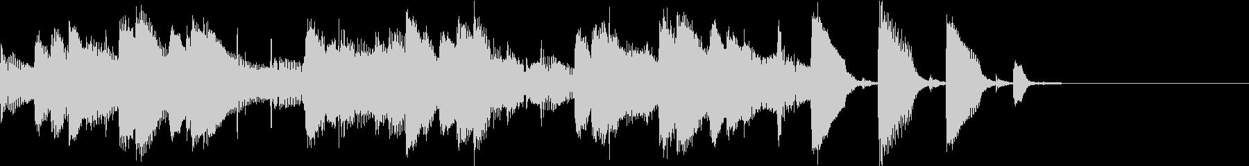 ほのぼのかわいらしいピアノトリオのBGMの未再生の波形