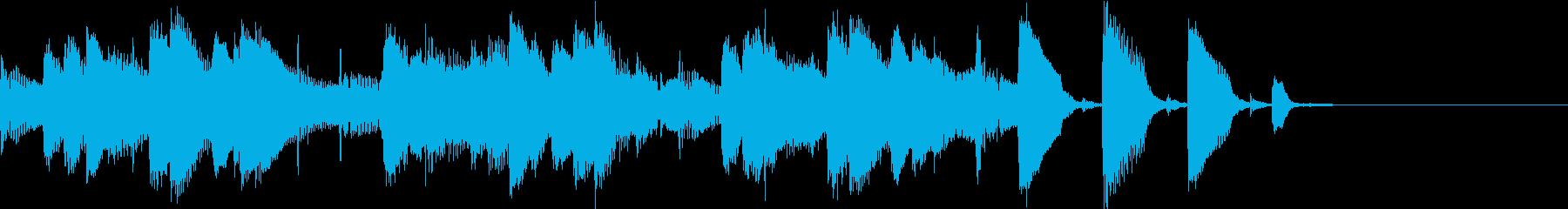 ほのぼのかわいらしいピアノトリオのBGMの再生済みの波形