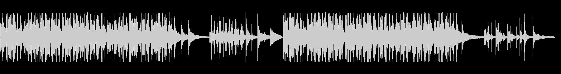 しっとりしたピアノバラードの未再生の波形