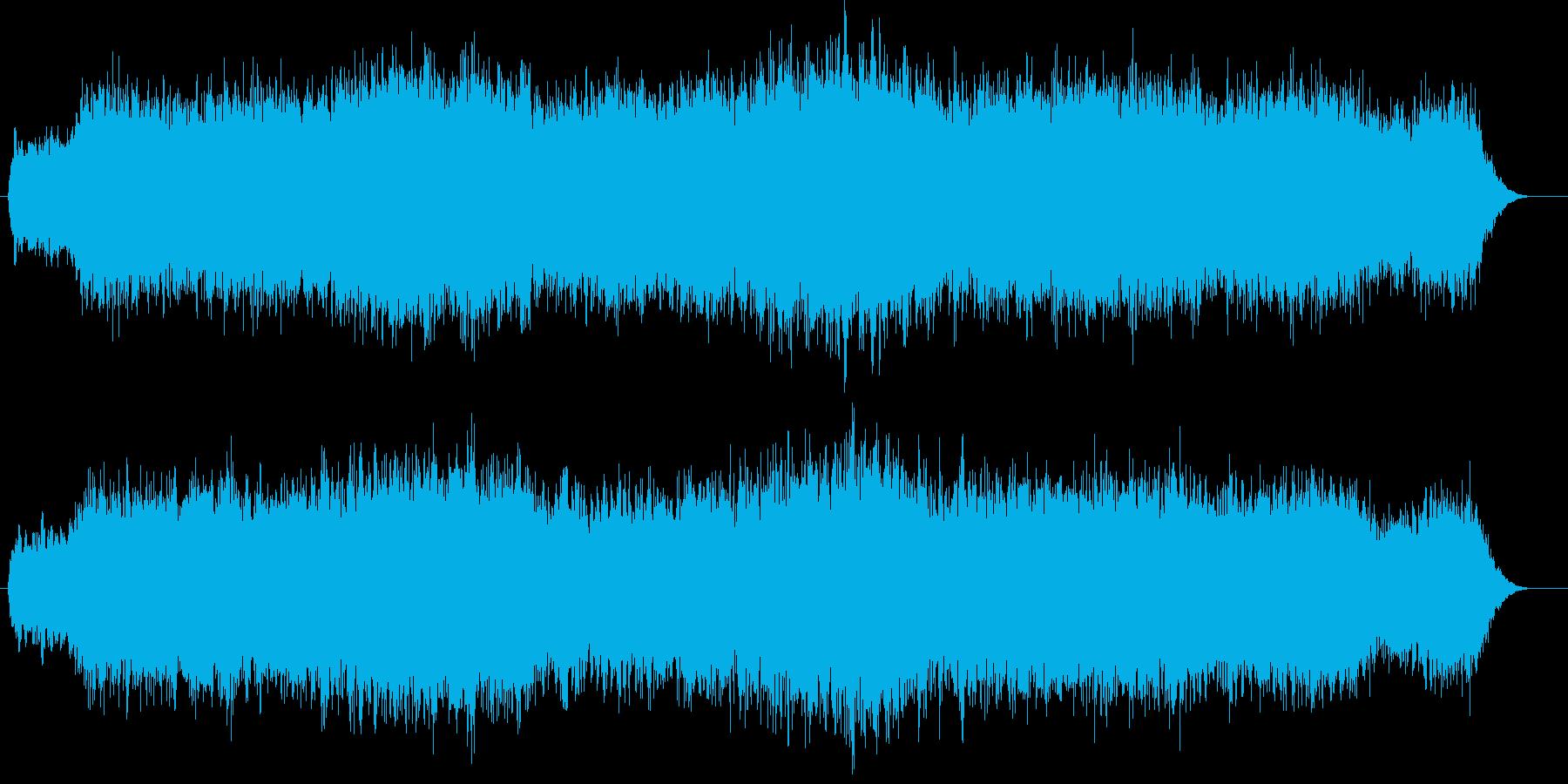 レトロで物悲しい雰囲気のシンセパッドの再生済みの波形