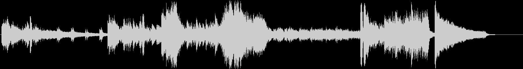 無機質な緊迫感の、変拍子ピアノソロの未再生の波形