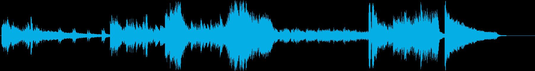 無機質な緊迫感の、変拍子ピアノソロの再生済みの波形