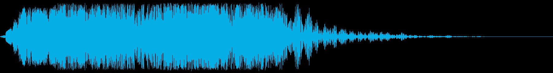 サイバー電気雷撃の再生済みの波形