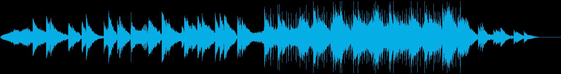 アンビエント感のある感動的なポストロックの再生済みの波形