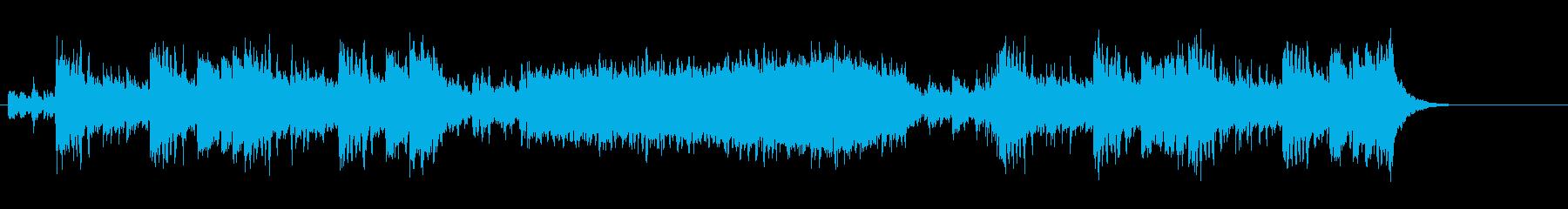 ドラマチックな和風サウンド(時代劇風)の再生済みの波形